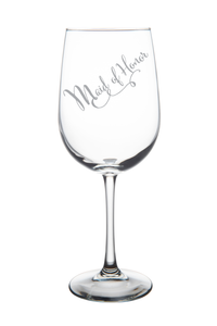 Maid of Honor wine glass, 19 oz.