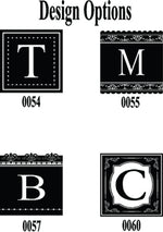 Monogrammed Glass Coaster Set of 4, choose your design ( 4 different options)