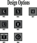 Monogrammed Glass Coaster Set of 4, choose your design ( 7 different options)