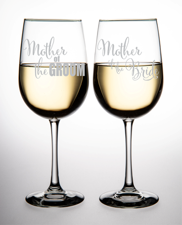 abf65f955c8 Mother of the Groom and Mother of the Bride wine glass set (