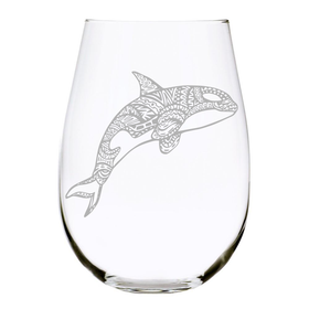 Orca stemless wine glass, 17oz. Lead Free Crystal
