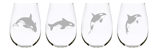 Orca stemless wine glass (set of 4), 17 oz. Lead Free Crystal