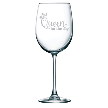 Queen for the day 19 oz. birthday glass
