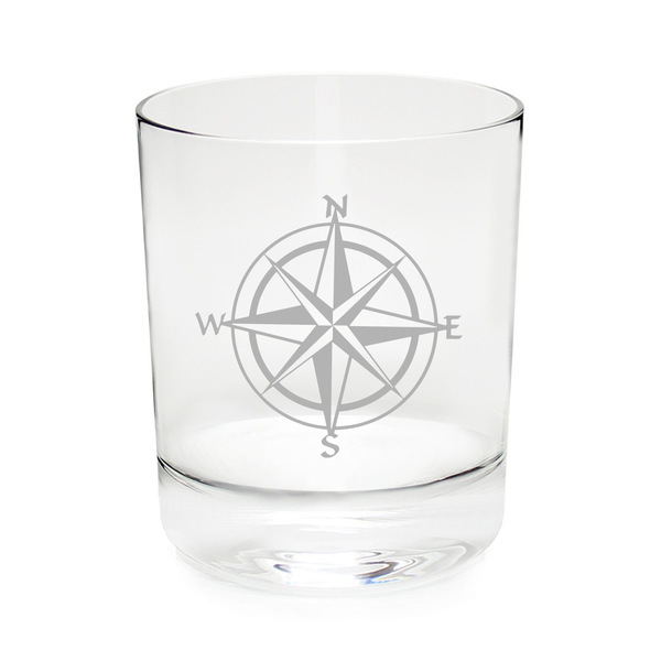 Sailing compass 11 oz. Whiskey - Rocks glass
