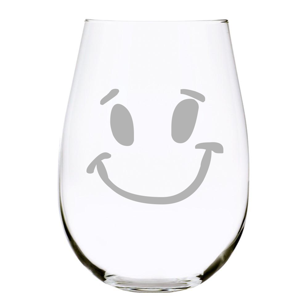 Smile 17 oz. Stemless Wine Glass, Lead Free Crystal