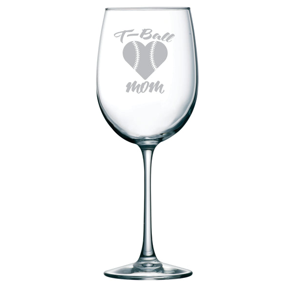 T-Ball Mom 19 oz. wine glass
