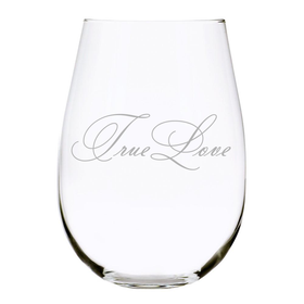 True Love 17 oz. Stemless Wine Glass