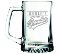 World's Greatest Grandpa, 25 oz Beer Mug