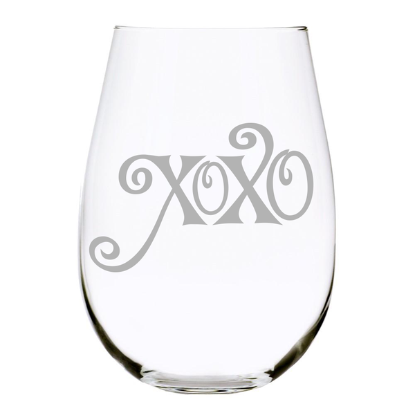 XOXO 17 oz. Stemless Wine Glass, Lead Free Crystal