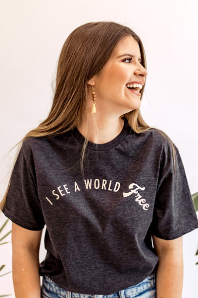 I See A World Free Collaboration Tee