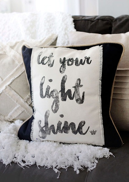 Let Your Light Shine Pillow