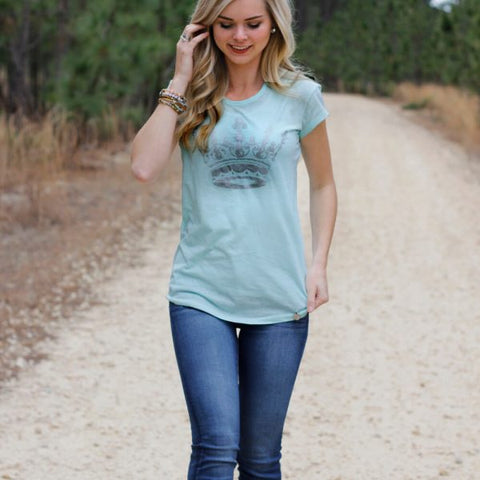 Seafoam Burnout Tee
