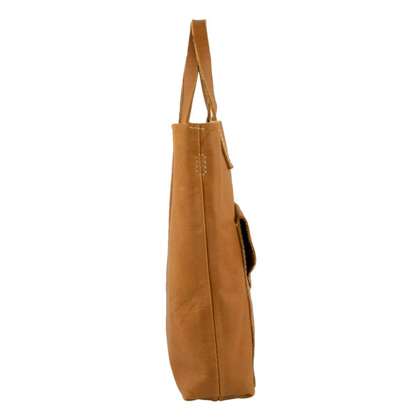 Shopper Crossbody in Oiled Caramel