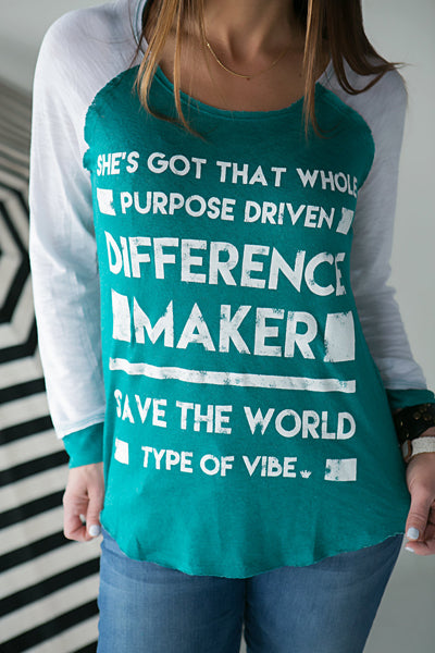 Difference Maker Baseball Tee