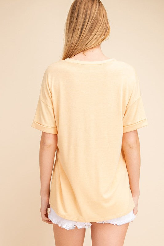Honey V Neck Tee