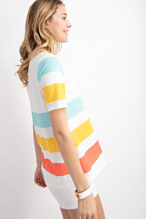 Sunset Stripe Top