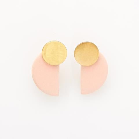 Ceramic Half Circle Post Earring