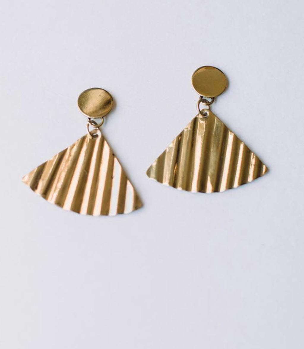 Shimmer Fan Earrings