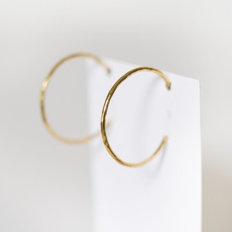 Hammered Hoops - Medium