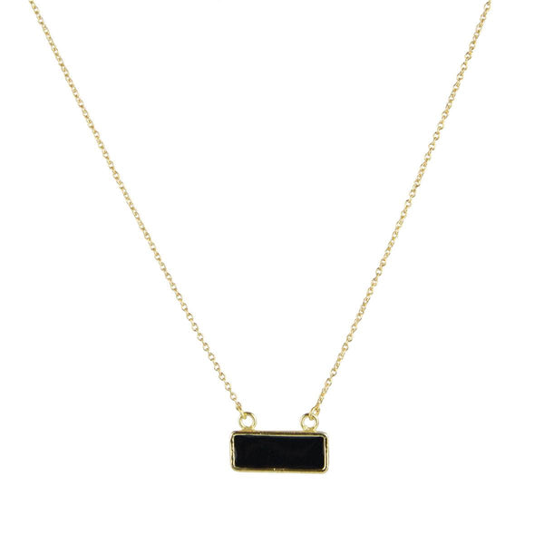Bar Necklace in Black