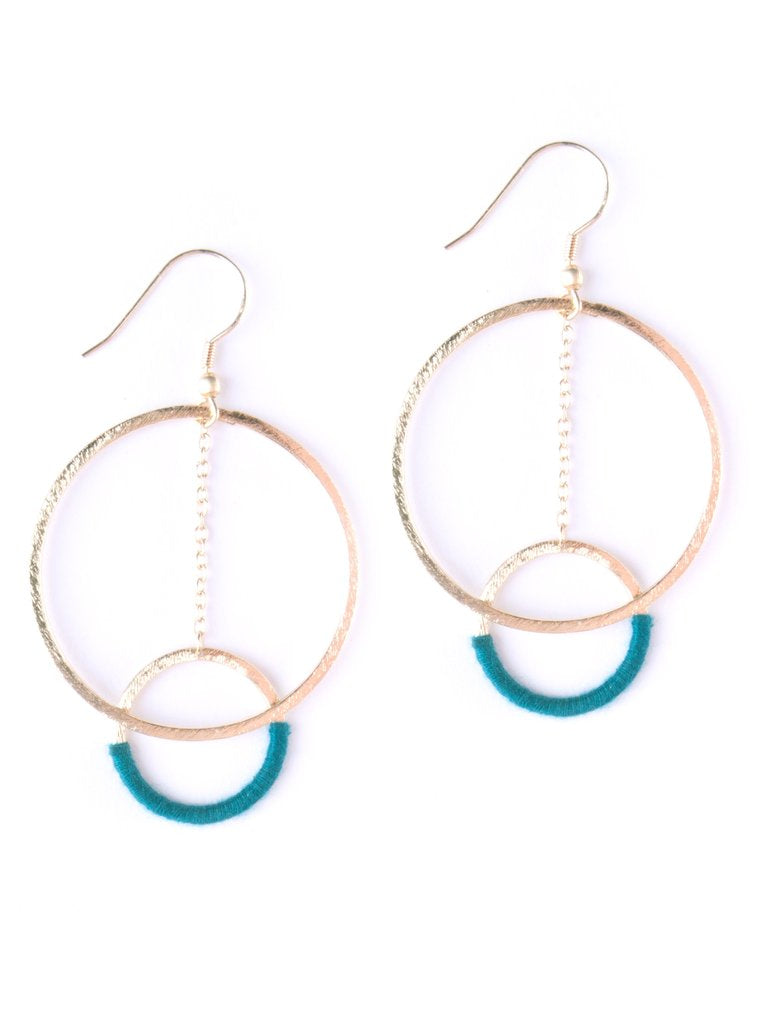 Thread & Hoop Earrings