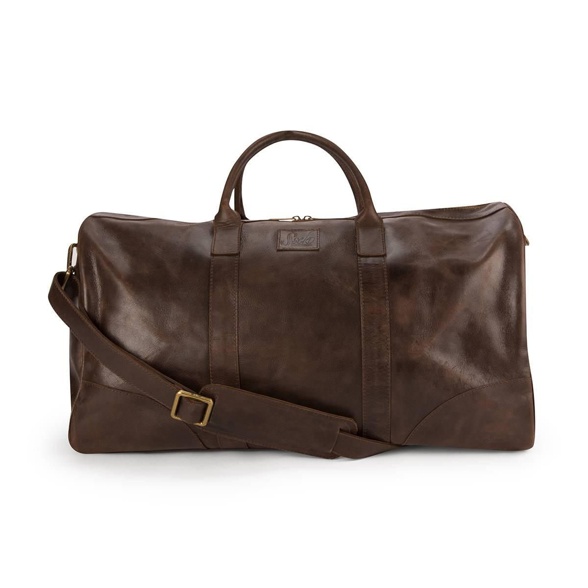 Weekender Duffel Bag in Oiled Chocolate