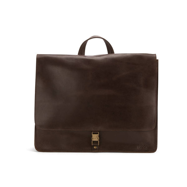 Briefcase in Oiled Chocolate