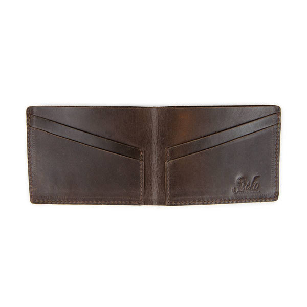 Bifold Wallet in Oiled Chocolate
