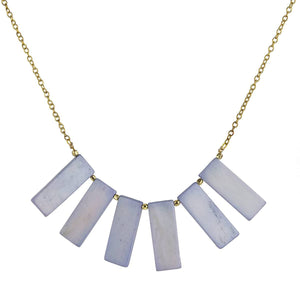 Fan Necklace in Slate