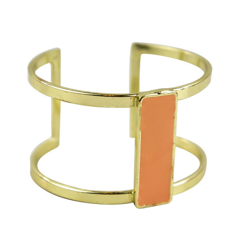 Bar Cuff in Peach