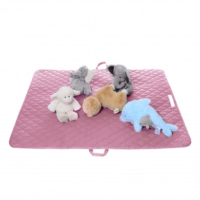2-in-1 Floor Mat & Bag - Pink