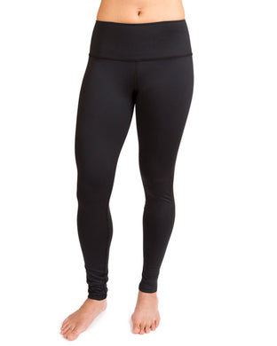 Eco-Friendly High-Waisted Women's Leggings - Black