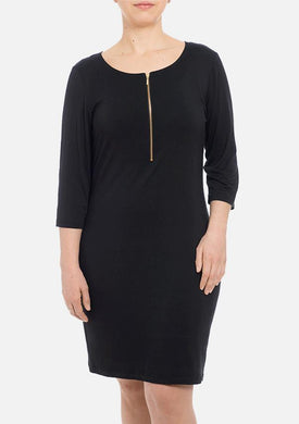 Melly Organic Bamboo Dress - Black