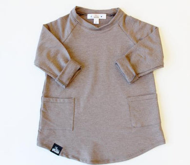 Over-Sized Bamboo Double Pocket Sweater - Chocolate