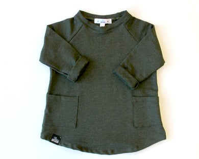 Over-Sized Bamboo Double Pocket Sweater - Hunter Green