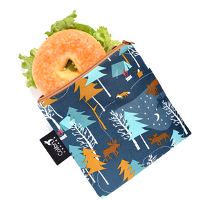 Reusable Snack/Wet Bag - Camp Out