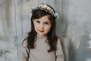 Floral Crown - SLATE AND PEARL