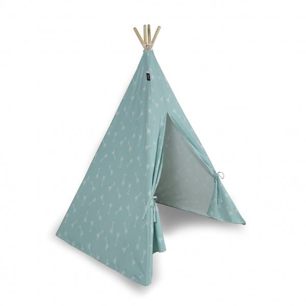 Teepee Play Tent (Arrows) - Aqua