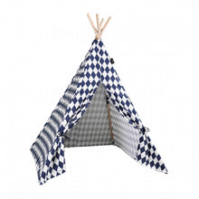 Load image into Gallery viewer, Teepee Play Tent (Rhombus) - Navy
