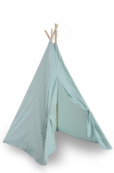Teepee Play Tent (Triangles) - Aqua