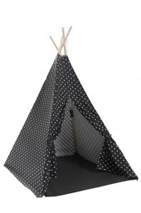 Teepee Play Tent (Triangles) - Black