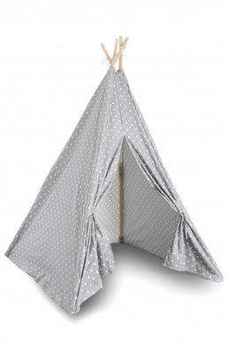 Teepee Play Tent (Triangles) - Grey