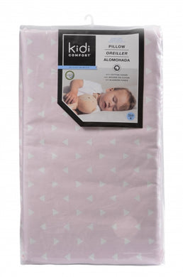 Memory Foam Toddler Pillow - Pink Triangles