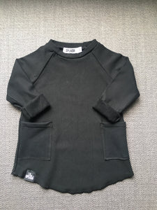 Over-Sized Bamboo Double Pocket Sweater - Charcoal