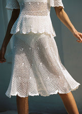Petunia Crochet Swing Skirt