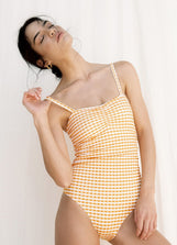 Mandarin Square Neck One Piece