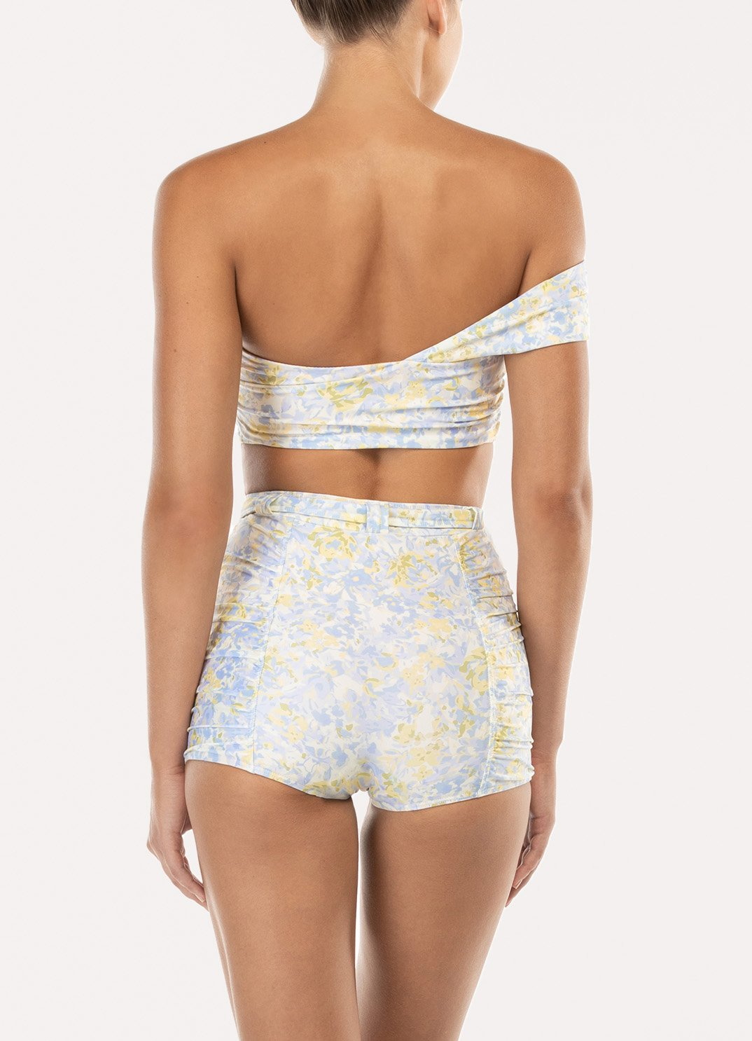 Forget Me Not Ruched Belted Short