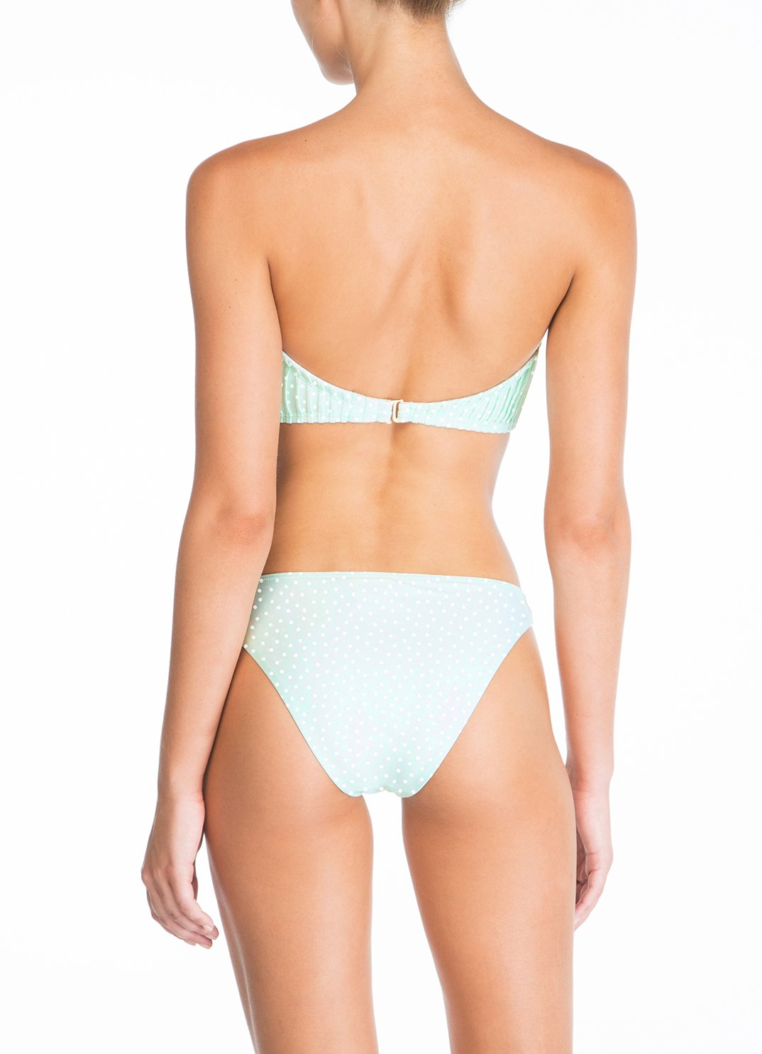 Mint Pintucked Bandeau