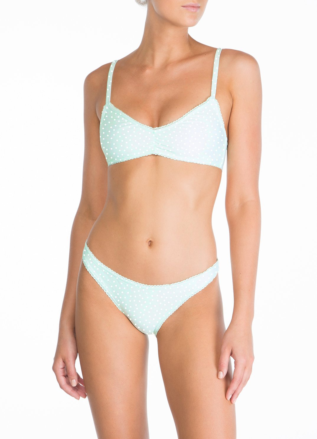 Mint Ruched Bralette