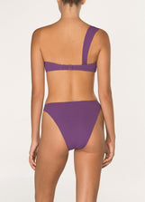 Plum One Shoulder Crop